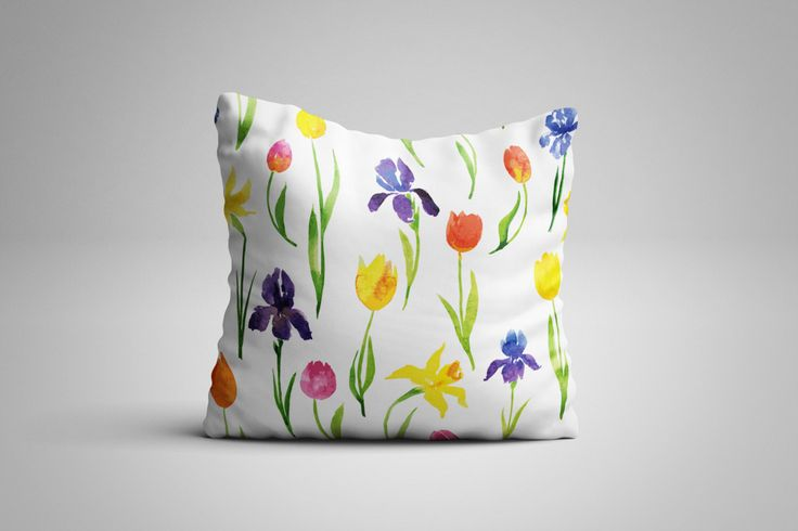 Spring Cushion. 12 x 12 inch Cushion by NJsBoutiqueCo on Etsy