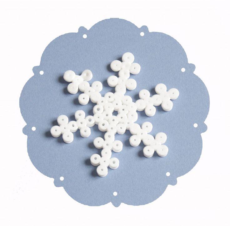 Les flocons de neiges en perle Hama - Bibouchka
