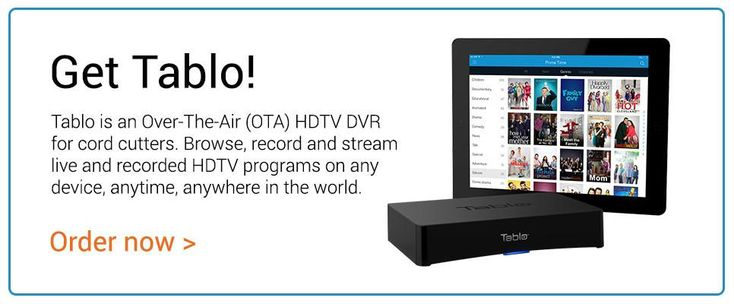 Buy Tablo, the OTA DVR for cordcutters