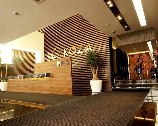 corporate office interior design ideas wood material application for wall decoration on koza office www - Corporate Office Design Ideas