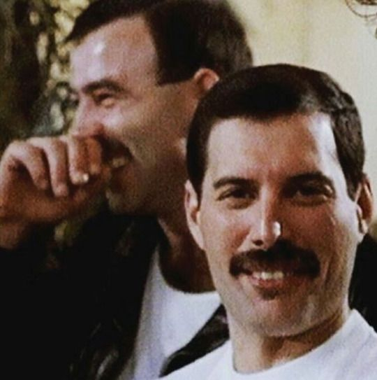 Freddie Mercury. Jim Hutton. Queen. 1980s.