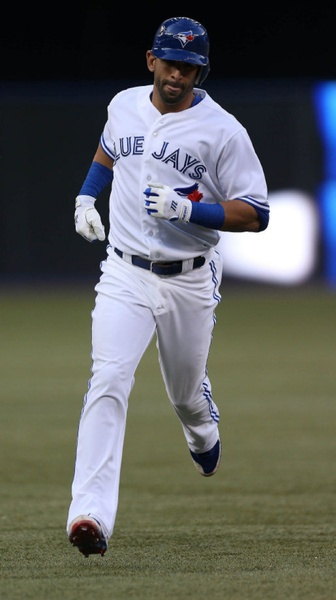Despite a home run from Jose Bautista in the third inning, things did not improve for the Toronto Blue Jays, who lost 11-3 to the Royals July 2, 2012.