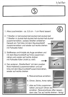 Dealing with distracting thoughts/worries/concentration: German sewing instruction for Sorgenfresser