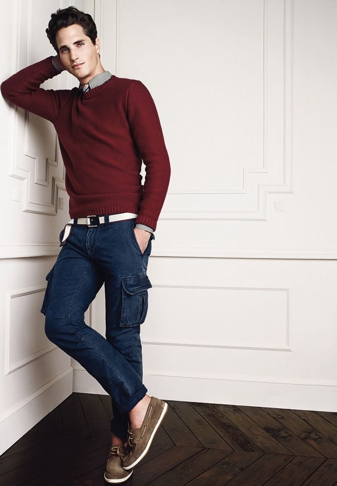 Ollie Edwards for HE by Mango || Bold choice of pants/shoes, but I would say try to pull it off