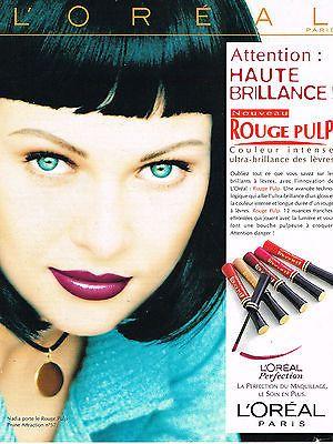 PUBLICITE ADVERTISING 114 1997 L'OREAL maquillage rouge à ...