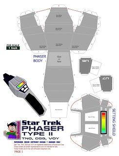 Obiwan-Papermodeling Star Trek phaser                                                                                                                                                     More
