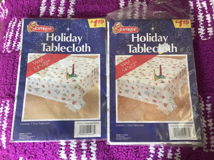 A personal favorite from my Etsy shop https://www.etsy.com/listing/521277296/two-vintage-vinyl-holiday-tablecloths