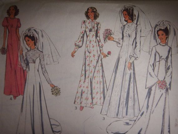 Vintage 1970s Style Misses' wedding or by VintageTwistsPattern, $7.00