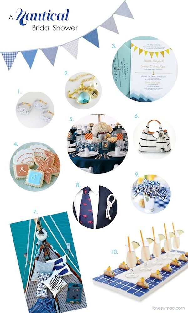 nautical bridal shower inspiration board!