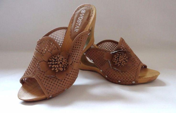 Womens Ladies Wedge Summer Mule Sandals Slip On Cushioned Comfort Sliders Size