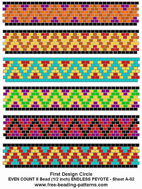 free beading patterns | free-peyote-bead-pattern-A-02
