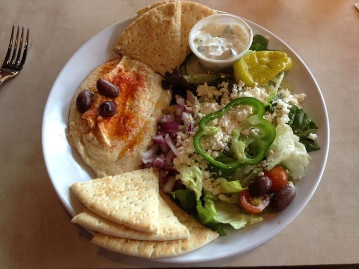 Hummus and Salad Plate from Zoes Kitchen but a great