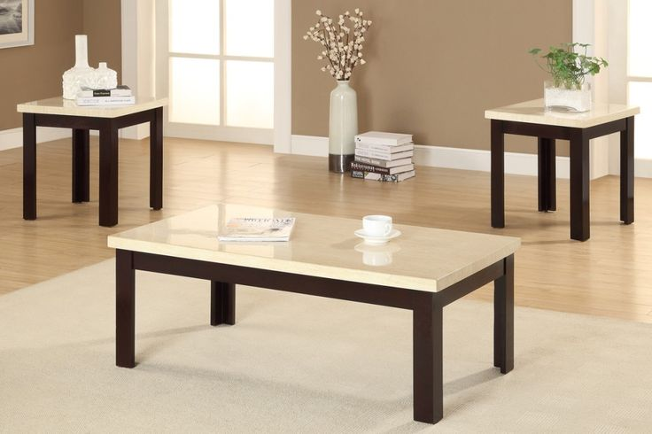 Marble End Table Set Mixed Foot Marble White Table Wooden Table Rectangular Shape And There Are Tables