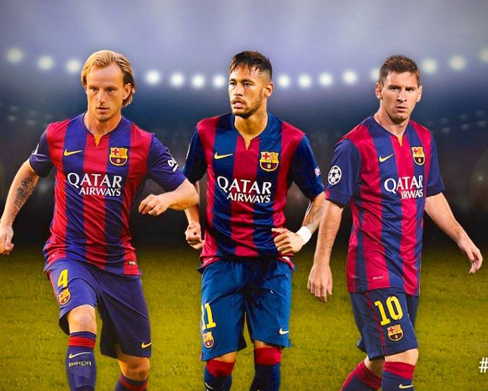 Messi Neymar and Rakitic