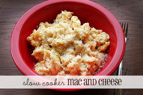 This slow cooker macaroni and cheese recipe is so easy! It's not fancy ...