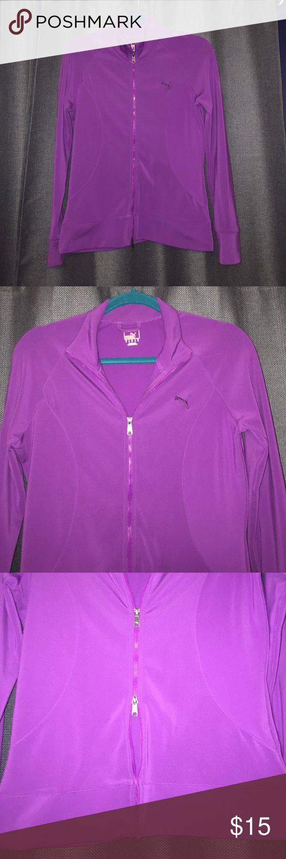 Purple Puma Jacket with Double Zipper Adorable and comfy purple puma jacket with a double zipper and dry cell technology to keep you warm and dry. Puma Jackets & Coats