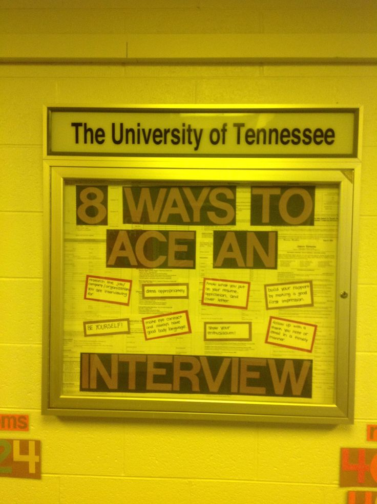 Interview Tips bulletin board | Dec Your Hall | Pinterest ...