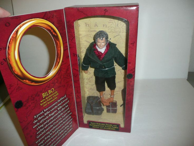 Bilbo Baggins Doll Action Figure by Toybiz LOTR 2002 The Two Towers Hobbit #Toybiz