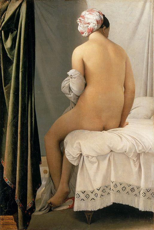 Jean-Auguste Dominique Ingres - La Baigneuse Valpinçon dite La grande baigneuse, 1,46m x 97,5cm, 1808, Paris, Musée du Louvre
