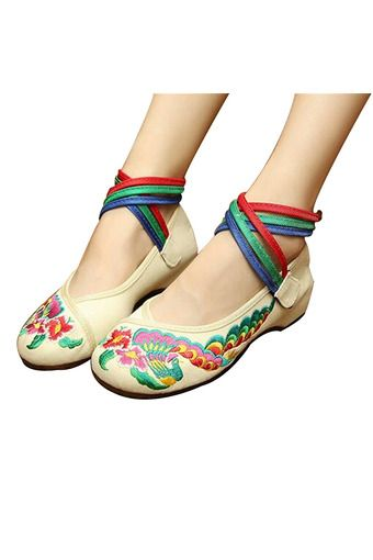 Chinese Embroidered Floral Shoes Women Ballerina Mary Jane Flat Ballet Cotton Loafer White 34 | ราคา: ฿870.00 | Brand: Unbranded/Generic | See info: http://www.topsellershoes.com/product/61245/chinese-embroidered-floral-shoes-women-ballerina-mary-jane-flat-ballet-cotton-loafer-white-34