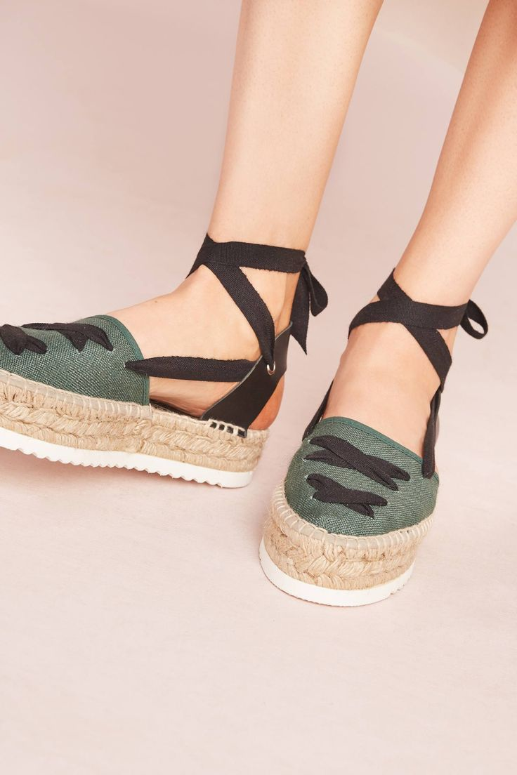 Slide View: 2: Howsty Alice Green Espadrilles