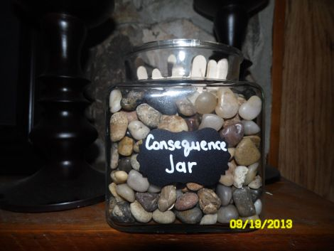 Consequence Jar- A win/win for Moms! Punishes the kids while helping Mom around the house!