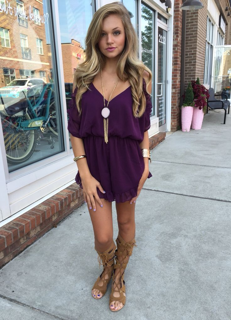 5735340ad55c Color crush...not a fan of the boots but love the romper especially