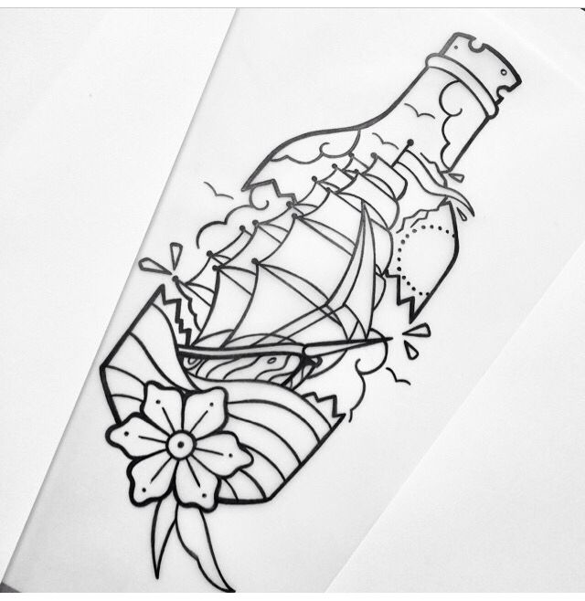 17 best images about in a bottle tattoos on pinterest traditional bottle and ios app. Black Bedroom Furniture Sets. Home Design Ideas
