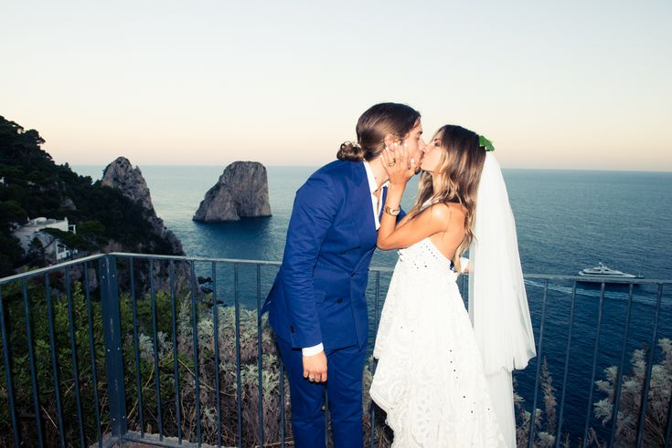 Erica and Louis - Chic in Capri via Green Wedding Shoes | http://www.nowkissthebride.com/ultra-chic-in-capri-erica-and-louis-wedding/