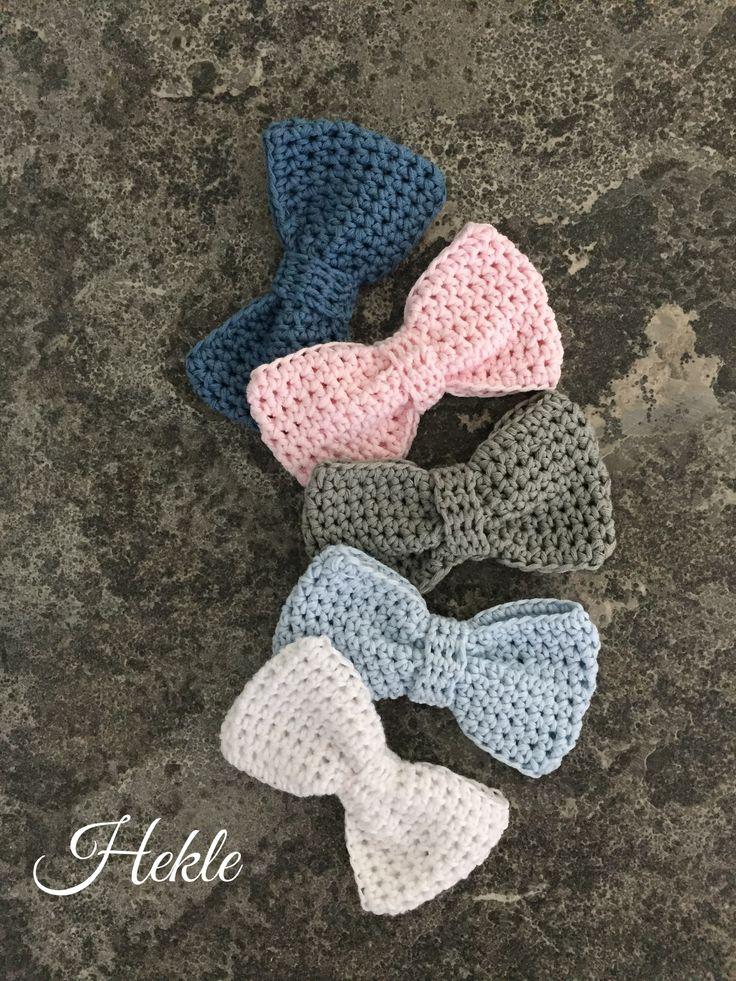 Gray & co crochet bow