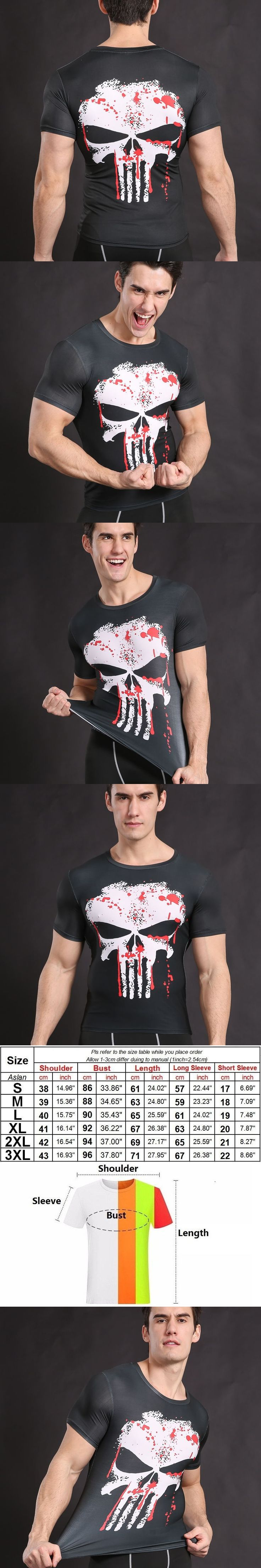 Newest Trasher t-shirt Men 3D Printed T-shirts Short Sleeve Cosplay Fitness Body Building Male Crossfit Tops Punk Skull Skeleton