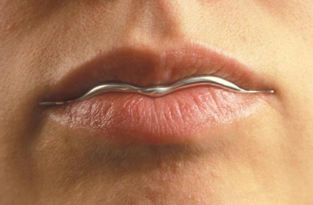 "Lip Liner  2003  sterling silver  U.S. Design Patent No. D507,074 for ""LIP LINER"", USA"