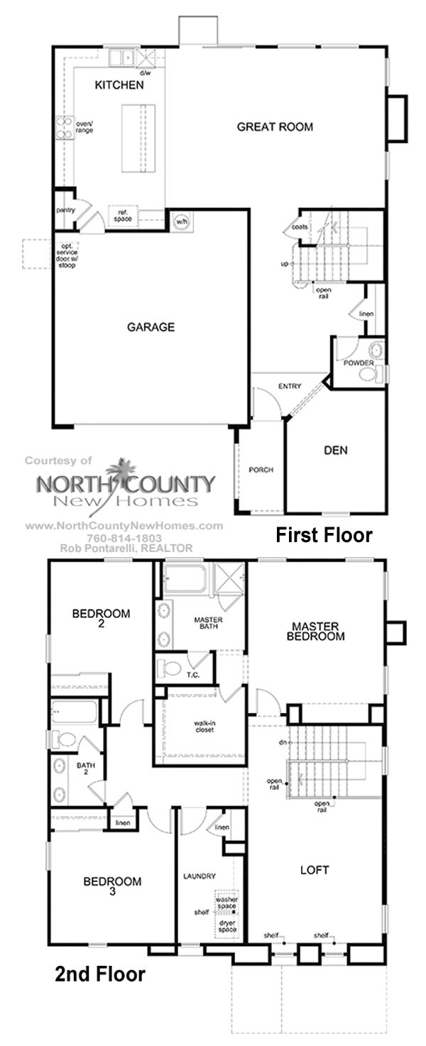 Haciendas Floor Plan 2 New Homes in San Marcos 3-5 Bedrooms
