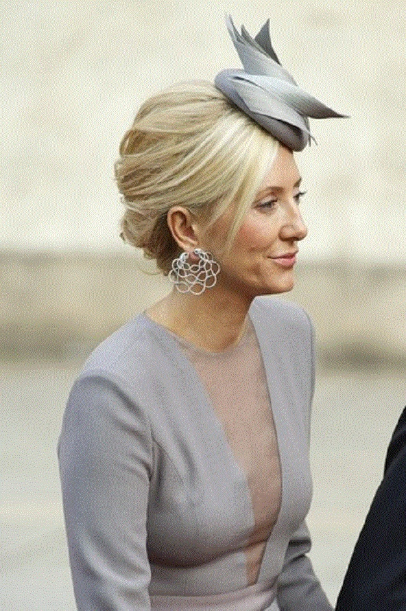 Marie Chantall of Greece at a wedding ceremony in Luxembourg