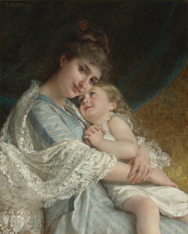francois martin kavel paintings | madre e hija Imágenes de pinturas de Emile Munier para descargar y ...