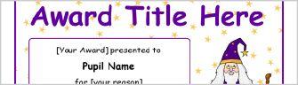 Themed Editable Primary School Certificates - SparkleBox