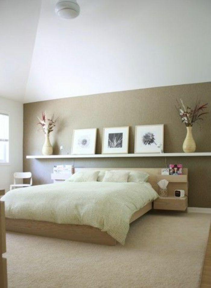 deco murale originale de pan de mur deco murale chambre beige dans la chambre a
