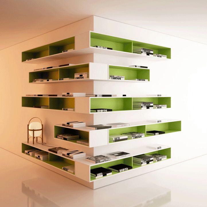 M s de 1000 ideas sobre estantes de pared de esquina en - Estanterias en esquina ...