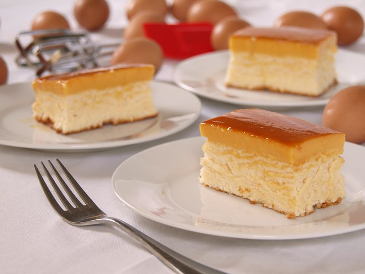 Custard Cake is a Filipino cake made up of chiffon cake topped with creme caramel and brown sugar syrup. A very popular baked item in the Philippines and it is sold in almost all bakeries.