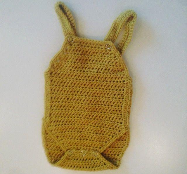 Crochet baby romper newborn #hekle #crochet