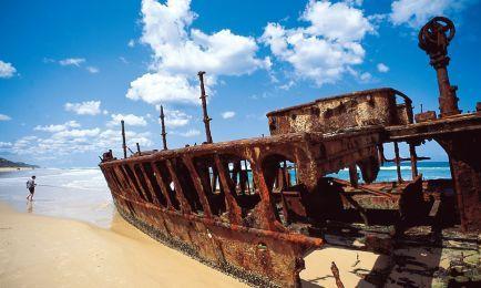 Maheno Shipwreck — Courtesy of Tourism Queensland