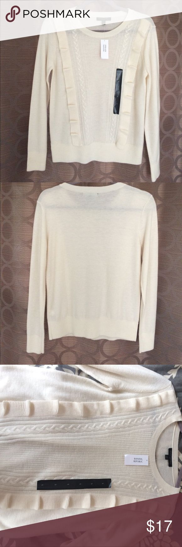 ⭐️beautiful design ⭐️ BANANA REPUBLIC This sweater is so beautiful and stylish. Definite a good addition for your closet! And comes with a super good price 😉 Banana Republic Sweaters Crew & Scoop Necks