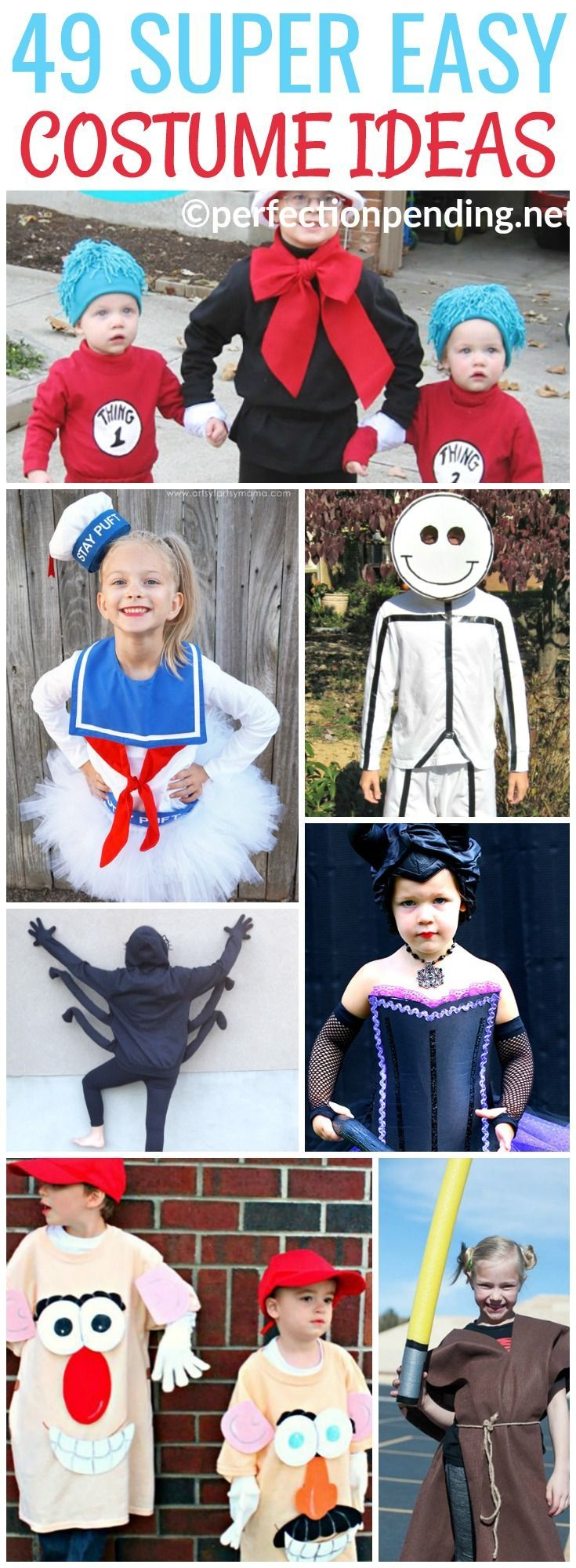 Let's be honest, sometimes it's hard to find cheap costume ideas that won't break the bank. But, it's just as hard to find easy Halloween costumes when you aren't crafty. These no sew and simple costume ideas for kids are the perfect mix of fun and easy f