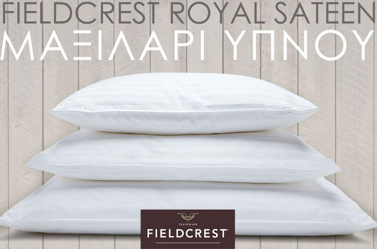 Pillow FIELDCREST Royal Sateen siliconized micromax filling 100% Cotton 300TC with extra separate Pillowcase. Choose the appropriate pillow for you, depending on the position you sleep. Soft for stomach sleepers, Medium for back sleepers,Firm for side sleepers. 3 Sizes