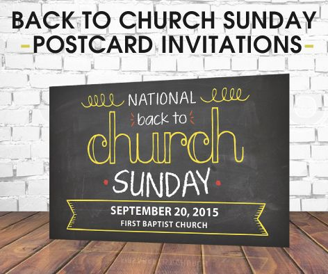 National Back to Church Sunday 2015 Postcard Invitation. September 20, 2015