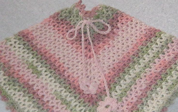 V stitch poncho