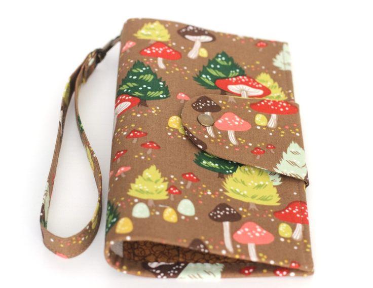 Travel wallet mushrooms passport holder travel organizer cake passport cover document holder woman wallet + Free gift! by KodamaLife on Etsy