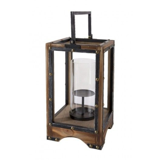 Drevený lampáš na terasu