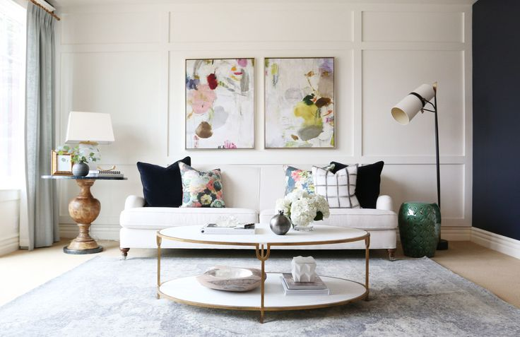 The Grid Shibori Pillow - Living Room Reveal || Studio McGee