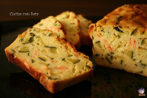 plumcake con zucchine e salmone